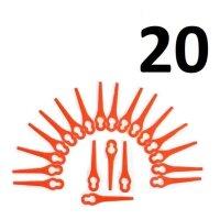 20 Ersatzmesser passend für BOSCH ART 26 Easytrim -...