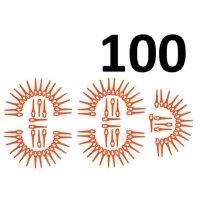 100 Kunststoffmesser passend für BOSCH ALM28...