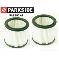 2 FILTERS PARKSIDE PAS 900 A1 Ash vacuum Fireplace vacuum...